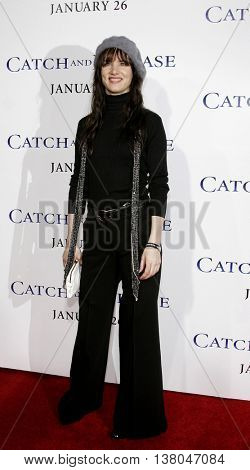 Juliette Lewis at the Los Angeles premiere of 'Catch and Release' held at the Egyptian Theatre in Hollywood, USA on January 22, 2007.