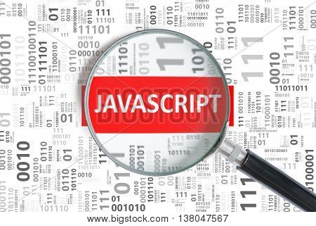 Software Development Concept. Javascript Programming Language In