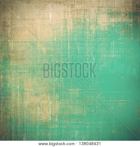 Vintage design background - Grungy style ancient texture with different color patterns: yellow (beige); brown; green; blue; cyan; gray