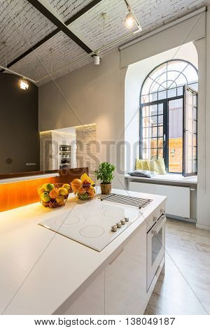 Light Open Kitchen With Industrial Look