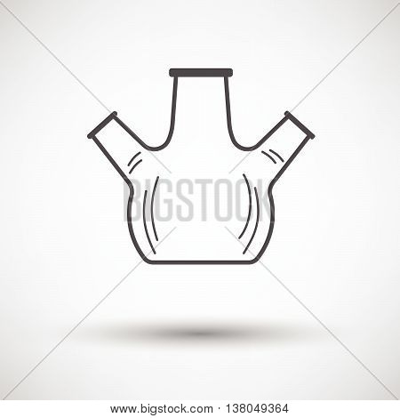 Icon Of Chemistry Round Bottom Flask With Triple Throat