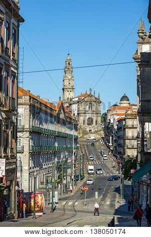 Igreja And Tower Dos Clerigos. Porto. Portugal.