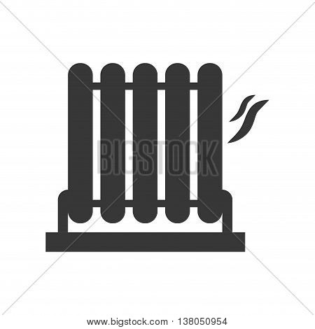 Object of home concept represented by heater silhouette icon. Isolated and flat illustration