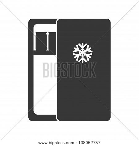 House appliance concept represented by fridge silhouette icon. Isolated and flat illustration