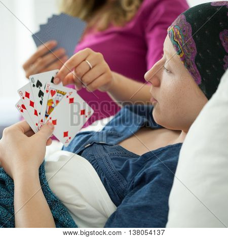 Cancer Girl Playing Cards