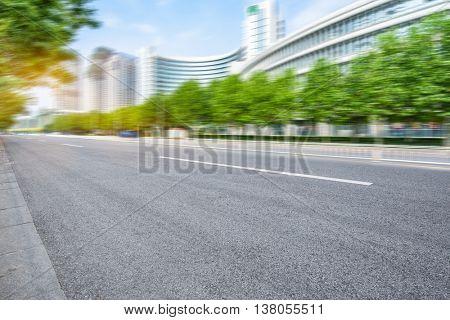 asphalt road of modern city,china