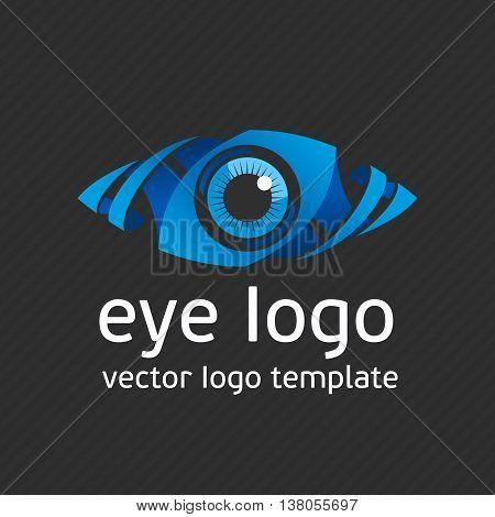 Eye Logo design vector template. Colorful media icon. Creative Vision Logotype concept. Colorful Eye Logo vision. Logo icon vector. Logo template. Creative logo.