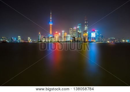 night view of the bund ,shanghai china
