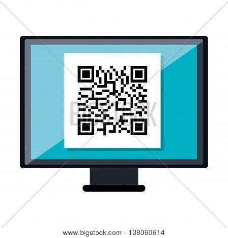 Qucik response code isolated flat icon, vector illustration graphic.