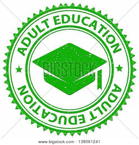 Adult Education Shows Educated Studying And Adults