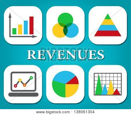 Revenues Charts Represents Business Graph And Salary