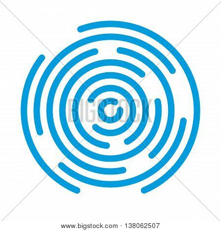 Abstract vortex. Circular drop background. Vector illustration for design your website and print.