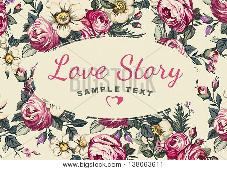 Cover for album Love Story, background of flowers