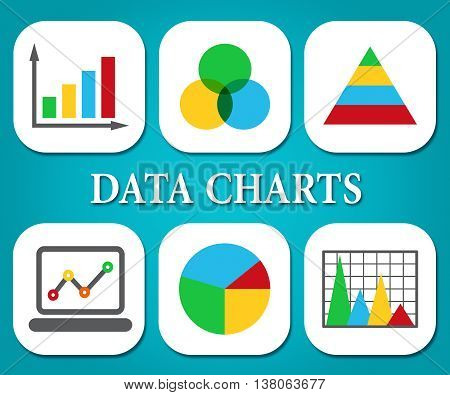 Data Charts Indicates Business Graph And Bytes