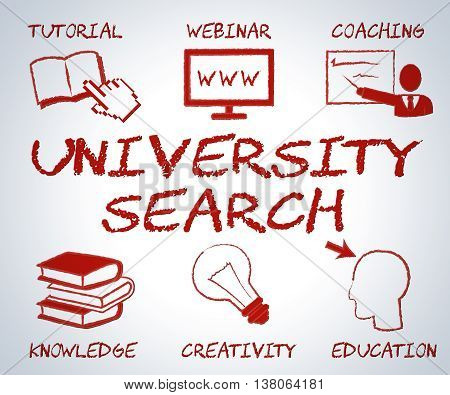 University Search Means Educational Establishment And College