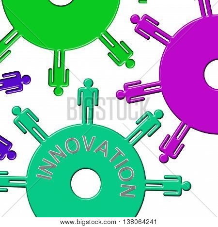 Innovation Cogs Represents Team Ideas And Improves