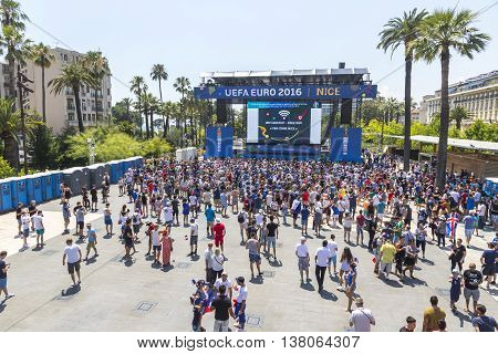 People Have Fun At Official Fanzone Of Uefa Euro 2016 In City Of Nice