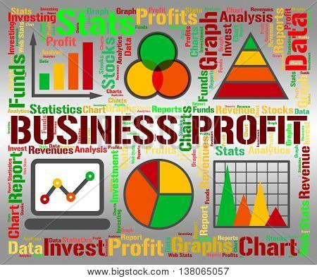 Business Profit Represents Statistic Earning And Lucrative