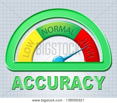 High Accuracy Indicates Maximum Excess And Exactness