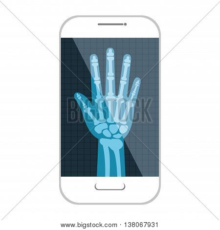Medical healthcare xray exam isolated flat icon, vector illustration graphic design.