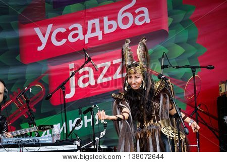 Moscow, Russia - June 4: Olox group performing on International Jazz Festival Usadba Jazz in Archangelskoye Museum-Mansion on June 4, 2016 in Moscow