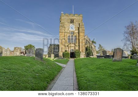St Mary's church in the pretty village of Goudhurst Kent UK