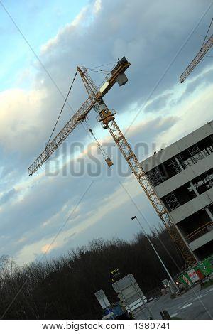 Construction Site With Crane