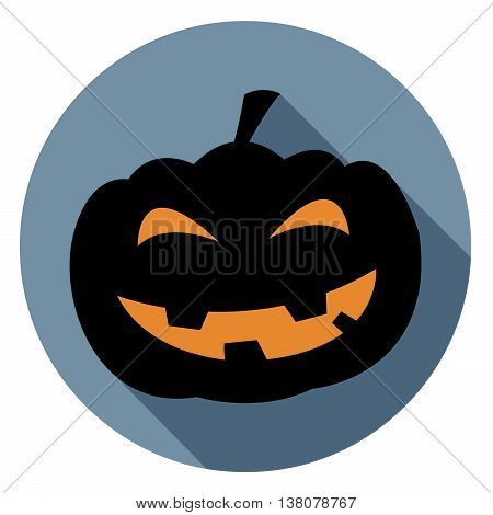 Halloween Pumpkin Icon Represents Autumn Sign And Spooky