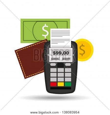 credit card ecommerce shopping icon, vector illustration