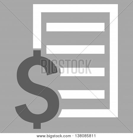Contract vector icon. Style is bicolor flat symbol, dark gray and white colors, silver background.