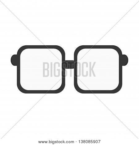 flat design squared frame glasses icon vector illustration