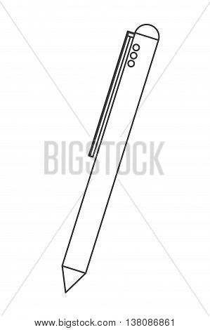 flat design retractable pen icon vector illustration