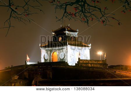Hue, Vietnam, May 26, 2016 King Khai Dinh Tomb, the ancient capital of Hue monuments, world heritage recognition