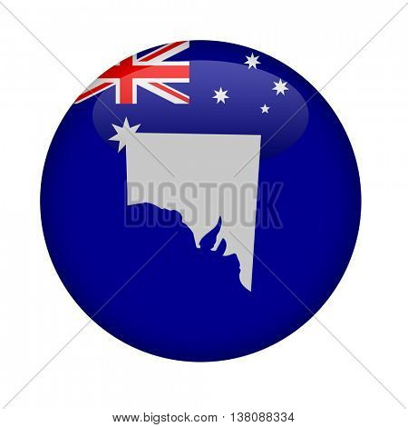 State of Southern Australia map button on a white background.