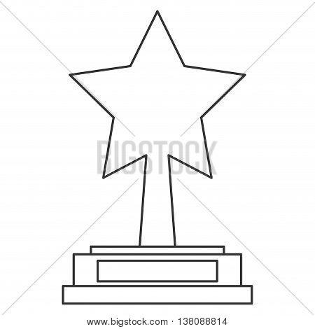 flat design star trophy icon vetor illustration