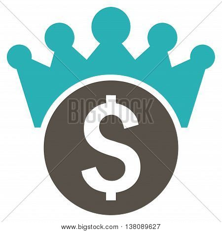 Financial Power vector icon. Style is bicolor flat symbol, grey and cyan colors, white background.