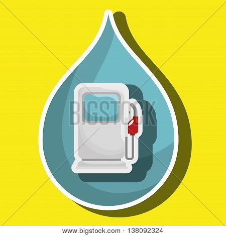 gasoline dispenser isolated icon design, vector illustration  graphic