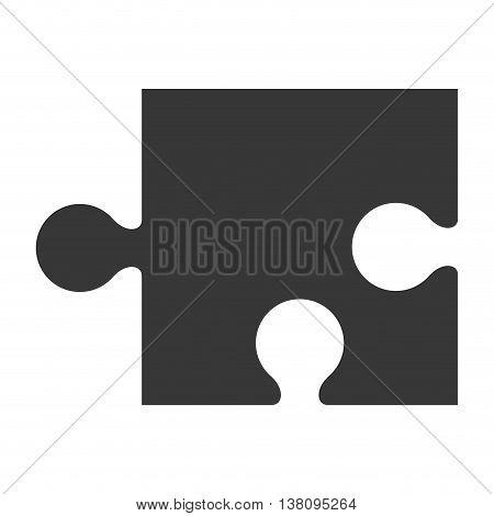 flat design puzzle piece icon vector illustration silhouette