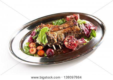 Roasted Saddle of Lamb with Fruit