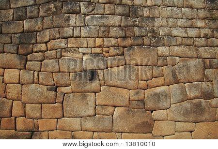 Inca-Mauer in der Stadt Machu Picchu, Peru