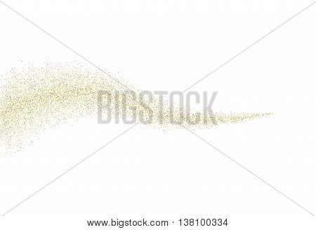 Vector gold glitter wave abstract background, golden sparkles on white background, Gold glitter card design. vector illustration vip design template.