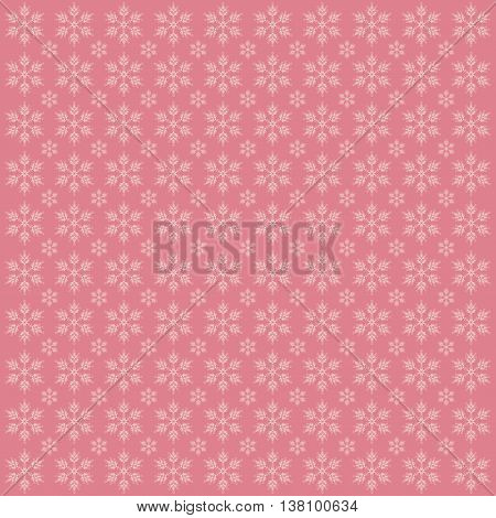 Abstract Christmas background with snowflakes. Vector image.