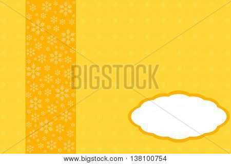 Creative greeting card design decorated in orange tones