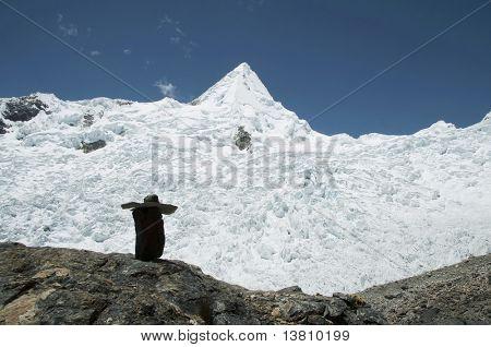 Alpamayo peak in the Cordilleras mountain