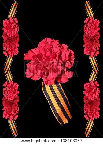 Holiday card from carnations and St. George ribbon