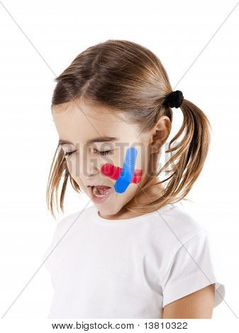 Little Girl With A Wound