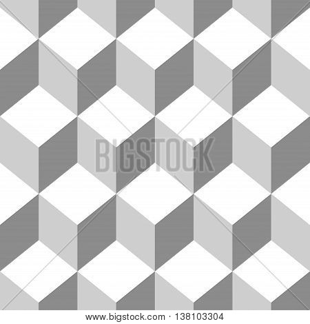 Abstract Seamless pattern vector cube. Vector Illustration