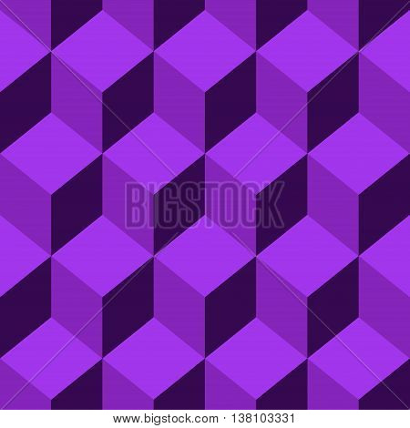 Abstract Seamless pattern vector violet cube. Vector Illustration