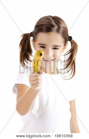 Girl Shoot With A Banana