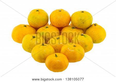 Orange fruit isolated on white a background